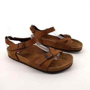 Birkenstock Rio Birko Flor Brown Sandals
